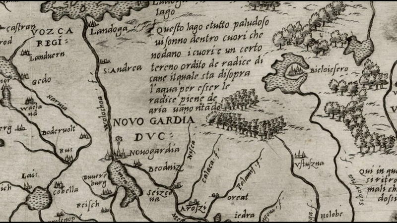на карте 1562 года нет России