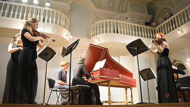 Бах Концерт для клавесина и струнных ре минор в 3 ч 2 Исп М Зайчикова А Гвоздарева Д Захарова К Панкина и А Изгагин