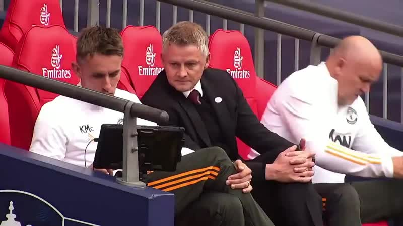 Mufc coaching staffs reaction to OIivier Girouds opener yesterday mulive @EmiratesFACup