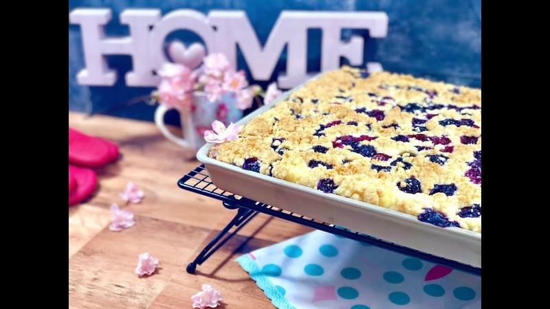 QUARK STREUSELKUCHEN mit Blaubeeren 😍 5 Minuten Kuchen 💞 Zauberhafte Leckereien