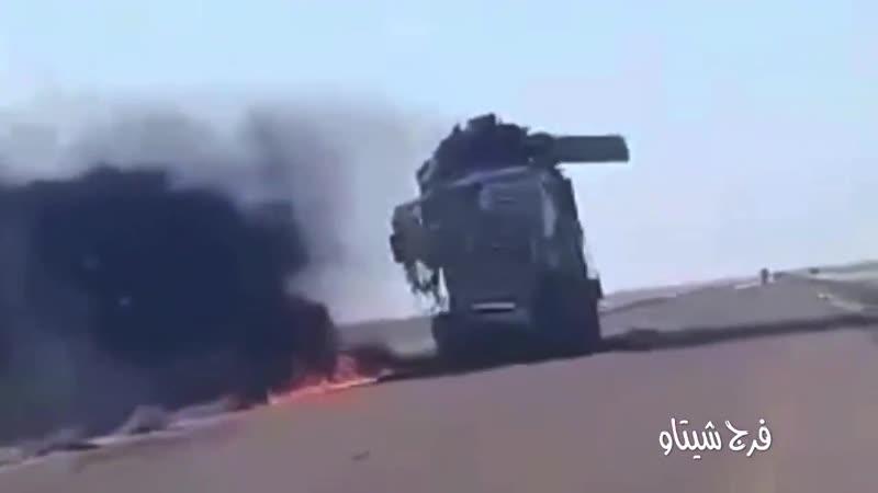 ليبيـا فيديو بطريق الرواغة سرت الجفرة يوضح إستهداف سلاح الجو الليبي لمنظومة دفاع جوي روسية وشاحنة نقل وقود .