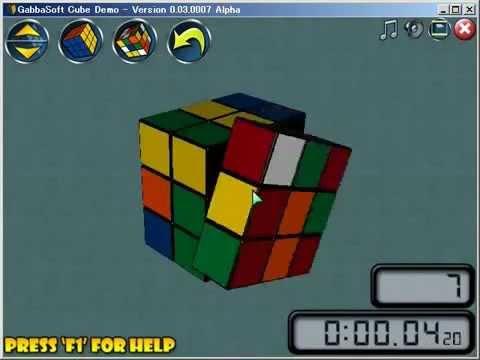 Очень быстрая сборка кубика Рубика 3x3x3 в программе Gabbasoft Cube Demo