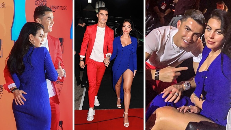 Cristiano Ronaldo and fiancée Georgina in Seville at awards MTV EMAs 2019