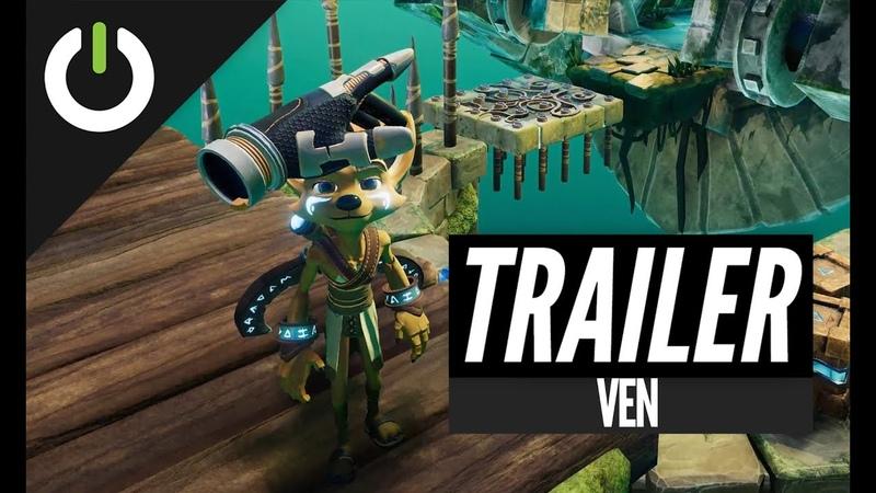 New VR Platformer! Ven VR Adventure Trailer (Monologic Games) - PC VR, PSVR