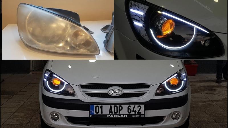 Hyundai Getz Bixenon Uygulaması Led Tasarımı Nasıl Yapılır
