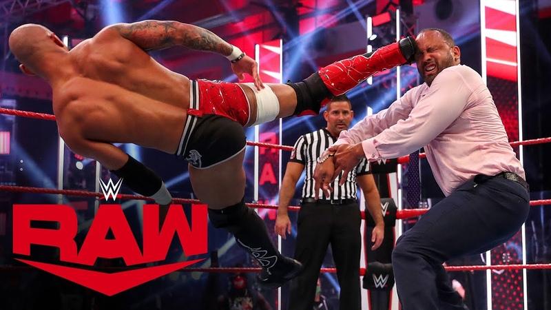 My1 Ricochet Cedric Alexander vs Bobby Lashley MVP Raw July 6 2020