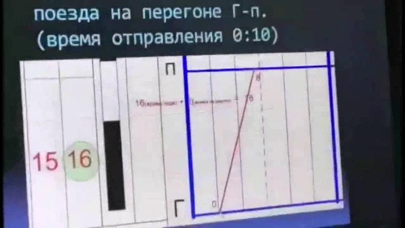Видеоурок. Исходные данные для составления графика движения поездов