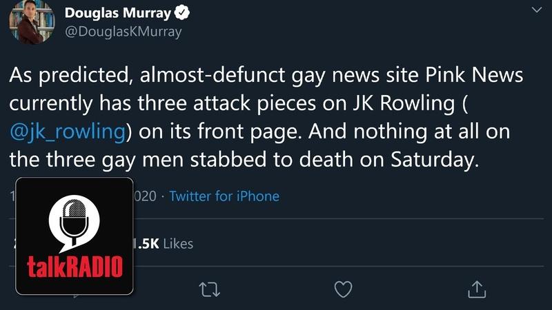 Douglas Murrays attack on gay media over Reading stabbing attack