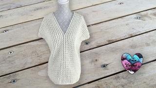 Blouse Dentelle facile Lidia Crochet Tricot
