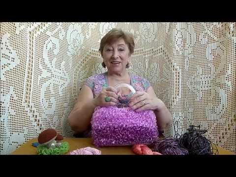 Меховое вязание и сумочка Пион Мастер класс по вязанию крючком от О С Литвиной